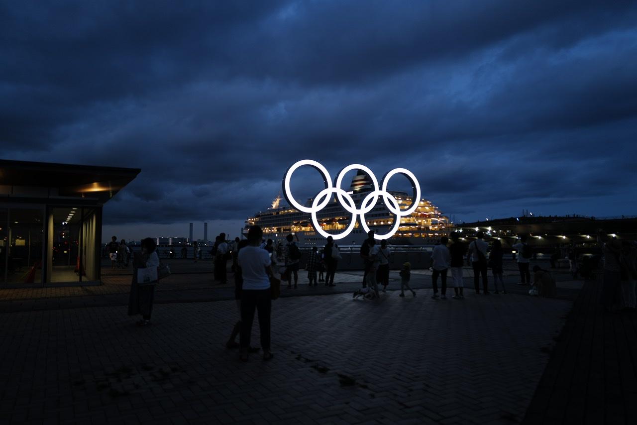 みなとみらい オリンピックオブジェ 船