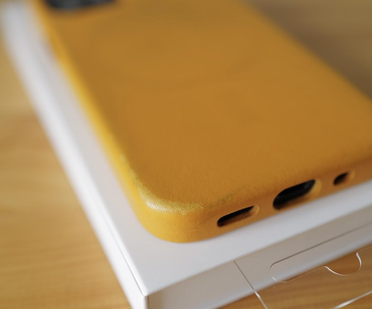 カリフォルニアポピー ダメージ 革ケース iphone