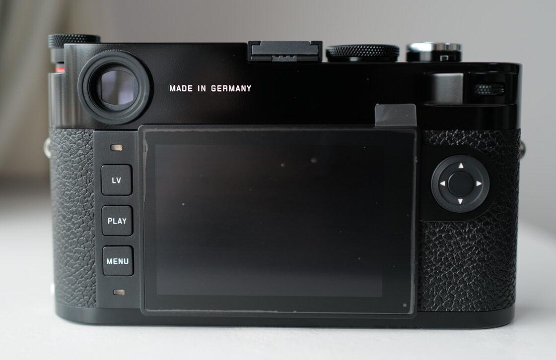 Leica M10-R black paint Back view