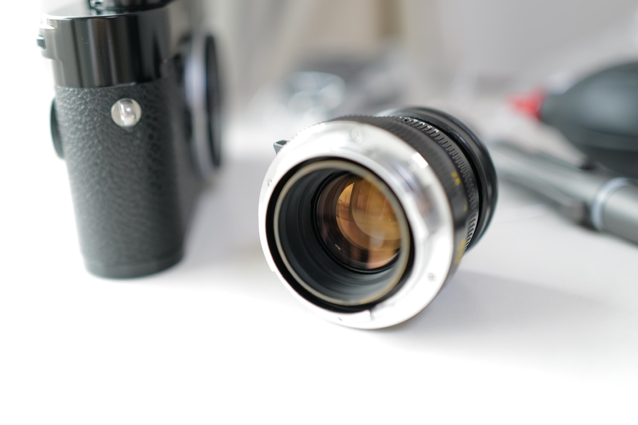 Summicron being checked